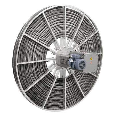 Engine-driven cable reels